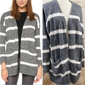 Madewell striped Charlie Cardigan sweater